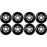 KSS Outdoor Asphalt Formula 89A Inline Skate X8 Wheels, 80mm, Black