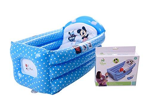 Plastimyr Mickey –  Baignoire gonflable, Couleur bleu marine