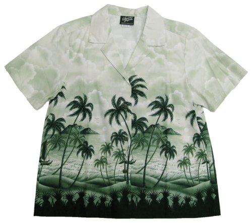 RJC Womens Pineapple's View Camp Shirt in Green - XXL by RJC Women