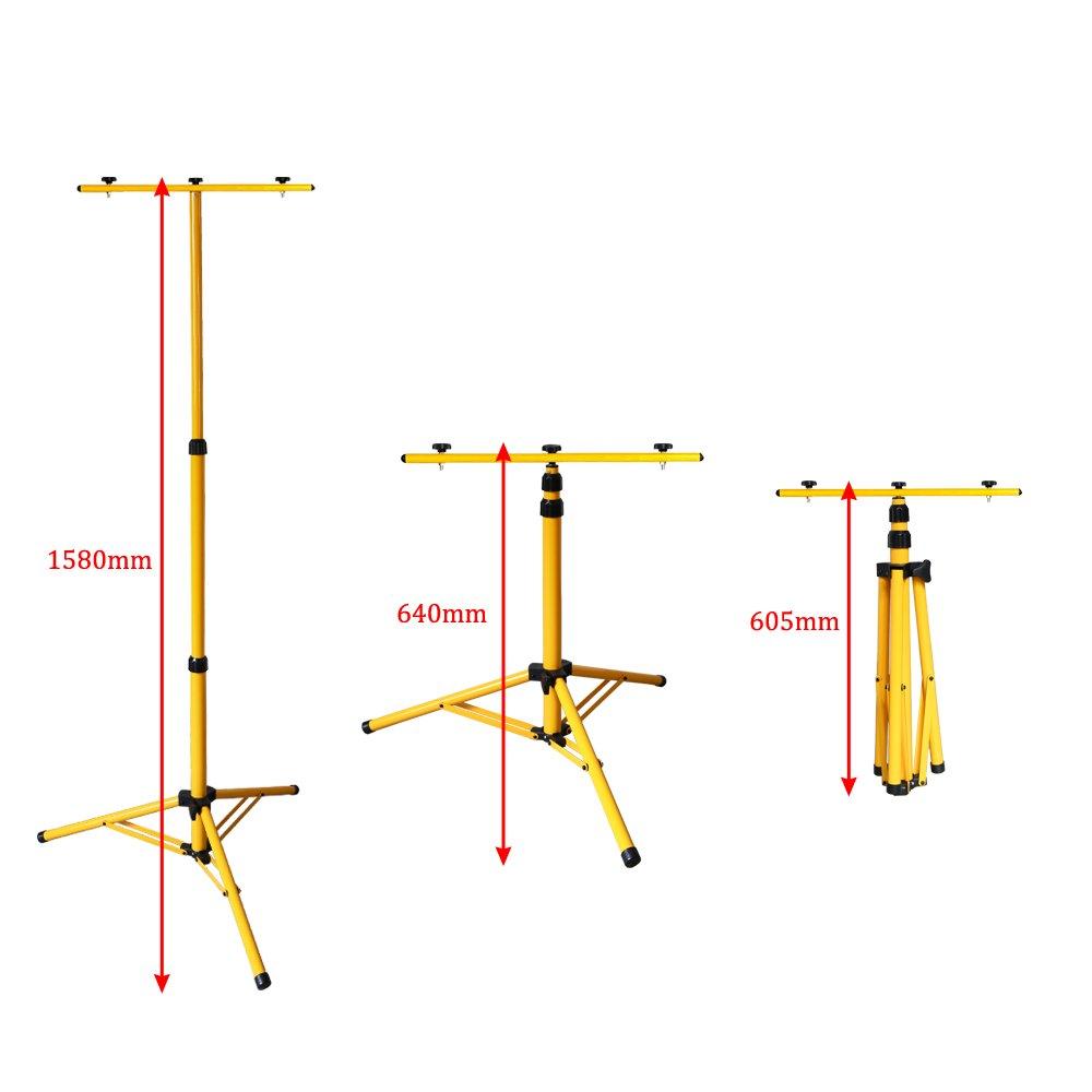 Hengda 2*Akku LED 20W Kaltwei/ß Fluter Mit Teleskop-Stativ Baustrahler Arbeitsleuchte Werkstattlampen Campinglaterne