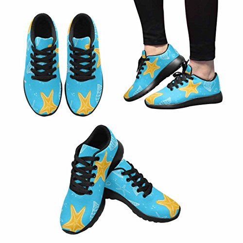 Interestprint Mujeres Jogging Running Sneaker Ligero Go Easy Walking Comodidad Deportes Running Shoes Multi 4