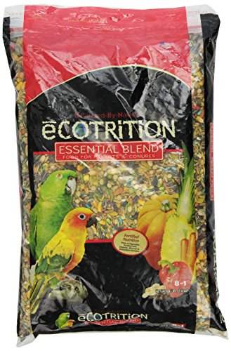 (Ecotrition C2136 Essential Blend Diet Bird Food For Parrots, 8-Pound Bag)