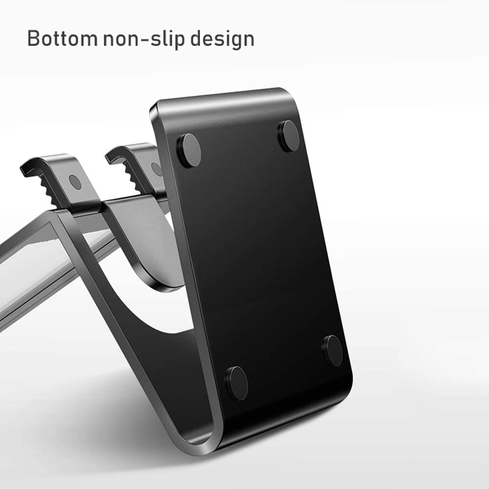 Dormitory Bedroom Mobile Phone Holder SYAODU Personalized Mobile Phone Holder Excellent Texture Aluminum Bracket Desktop Video Showing The Stand of The Phone