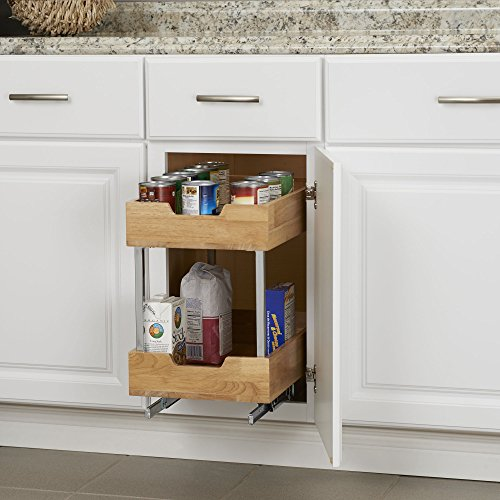 Household Essentials 24221-1 Glidez 2-Tier Sliding Organizer - Pull Out Cabinet Shelf - Wood - 11.5 Inches Wide by Household Essentials (Image #5)