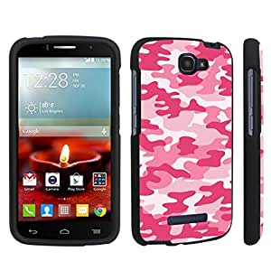 DuroCase ? Alcatel OneTouch Fierce 2 7040T (2014 Released) Hard Case Black - (Baby Pink Camo)