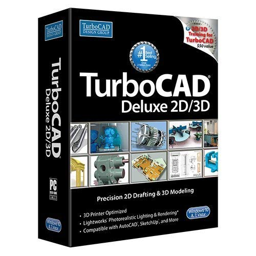 TurboCAD Deluxe 2018 DVD - Powerful 2D/3D CAD Software (Software Turbocad)
