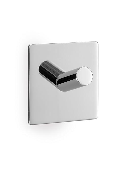 Zack 40071 Duplo - Colgador cuadrado adhesivo para toallas (5 x 5 cm, efecto