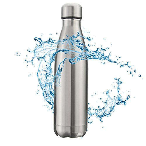OUTERDO Double Wall Vacuum Insulated Water Bottle 17oz Stainless Steel BPA Free Long Neck and Bullet Shape Water Bottle Keeps Your Drink Hot /& Cold Ideal for Outdoor Sports Camping Hiking Cycling