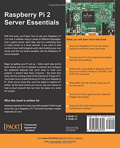 Raspberry Pi 2 Server Essentials: Amazon co uk: Piotr J Kula
