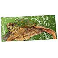 "KESS InHouse Catherine Holcombe ""Shelley Green Sea"" Office Desk Mat, Blotter, Pad, Mousepad, 13 x 26-Inches"