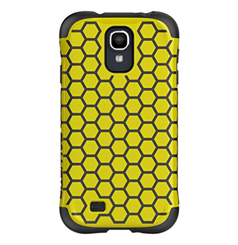 - Ballistic AP1160 - A115 Aspira Honeycomb Pattern Case for Samsung Galaxy S4 - 1 Pack - Retail Packaging - Yellow/Charcoal