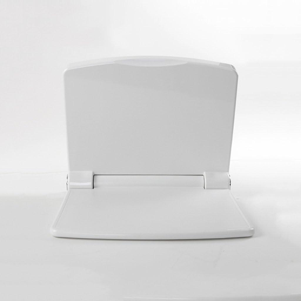 ZEQUAN Chaise De Salle De Bains Banc De Douche Tabouret De Douche Fauteuil Handicap/é Si/ège Fauteuil De Toilette Toilette Haut Dossier Mural Blanc