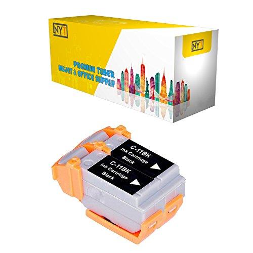 New York Toner New Compatible 2 Pack BCI-11BK Black High Yield Inkjet For - BJCAN-70 . -- - Inkjet Bci 11bk