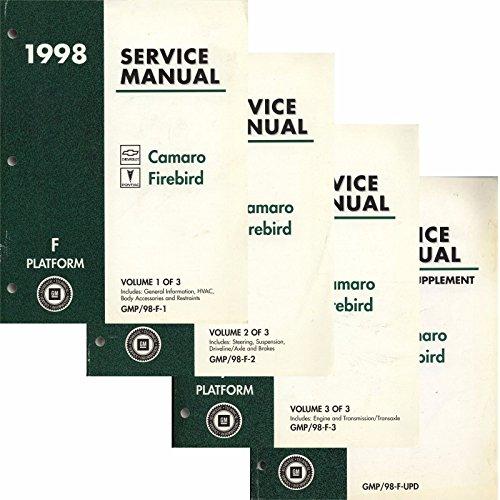 1998 Camaro, firebird Service Manual (F Platform) 3 Volume Set