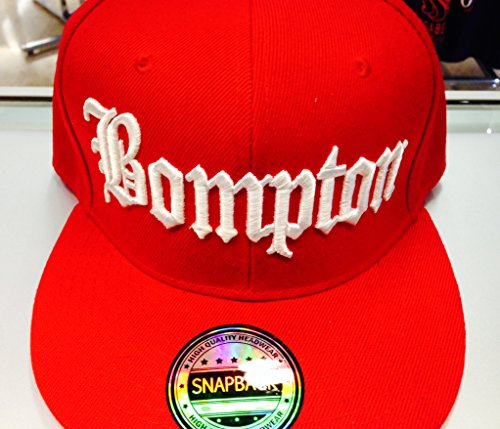 Bompton Hat: Bompton Snapback (Red And White )