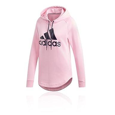 13c2f36cb6fb3 adidas Damen Must Haves Badge of Sport Hooded Sweatshirt, True Pink, XS