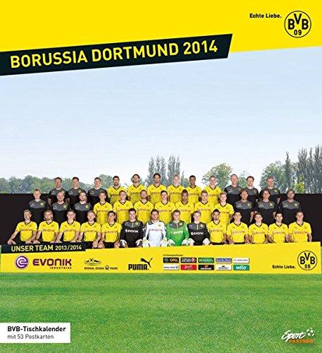 Borussia Dortmund 2014: BVB-Tischkalender mit 53 Postkarten