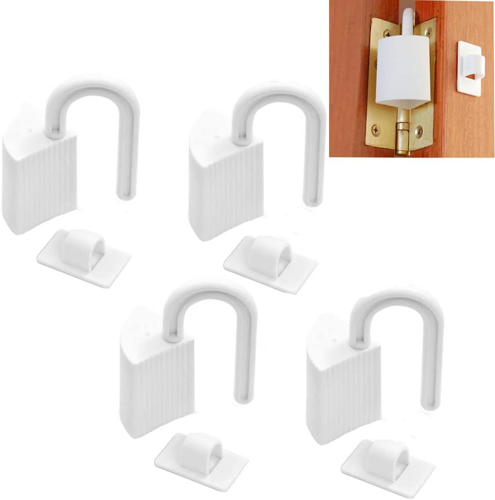 Eforlike 4 Pieces Plastic Door Stoppers Finger Pinch Guards for Child Proofing,White