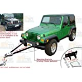 Universal Tow Bar Adjustable Mount Tow Bar Tow Kit with Magnetic Tow Lights