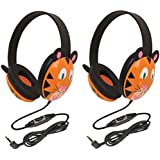Califone 2810-TI Tiger Motif Listening First Stereo Headphone (pack of 2), Adjustable headband comfortable for extended wear, Specifically sized for young children