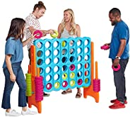 ECR4Kids 4-To-Score Giant Game Set - Oversized 4-In-A-Row Fun for Kids, Adults and Families - Indoors/Outdoor