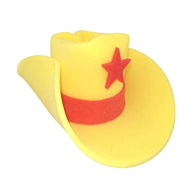 df8b74cd8f1c1 Amazon.com  Giant Foam Cowboy Western Novelty Hat Yellow  Clothing