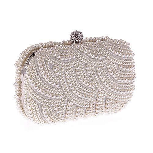 colore Borse Donna Elegante Cocktail Bianca Per Speciali Perline Nero Pochette Sera Borsa Con Frizione Da Occasioni xffOrnBa