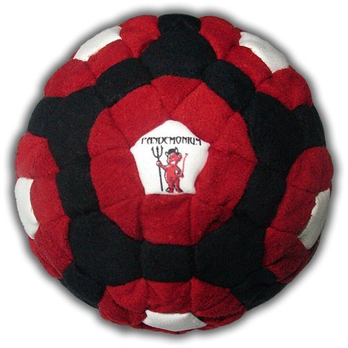 Pandemonium Footbag Lucifer Footbag 182 Panels Hacky Sack Bag Pellets & Iron Weighted At 2.1 Onces