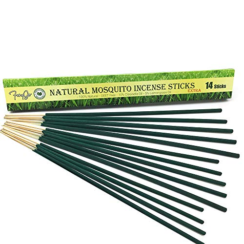 (FenyGo Natural Mosquito Incense Sticks Extra- 14 Sticks per Box - 17.5 inches Long)