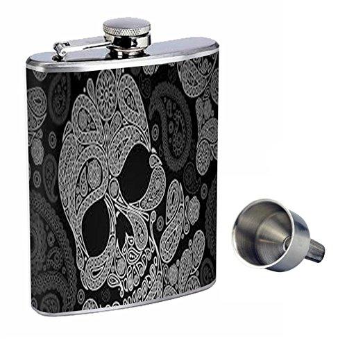 2019最新のスタイル シュガースカルPerfection inスタイル8オンスステンレススチールWhiskey Flask with Flask Free Funnel d-002 Free d-002 B01669TQ0I, プリーズ-アーチ:398e6e45 --- domaska.lt