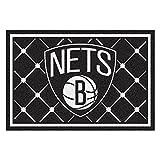 FANMATS NBA Brooklyn Nets Nylon Face 5X8 Plush Rug