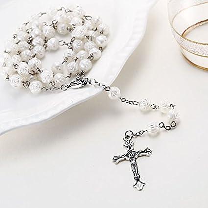Resultado de imagen para rosario de rosas blancas