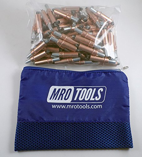 100 1/4 Cleco Sheet Metal Fasteners w/ Mesh Carry Bag (K2S100-1/4) by MRO Tools Cleco Fasteners