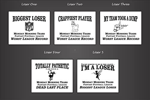 Amazon com : Fantasy Football LOSER Trophy, Toilet, Antique Gold