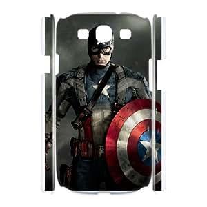 DIY Stylish Printing Captain America Cover Custom Case For Samsung Galaxy S3 I9300 MK1Q702353