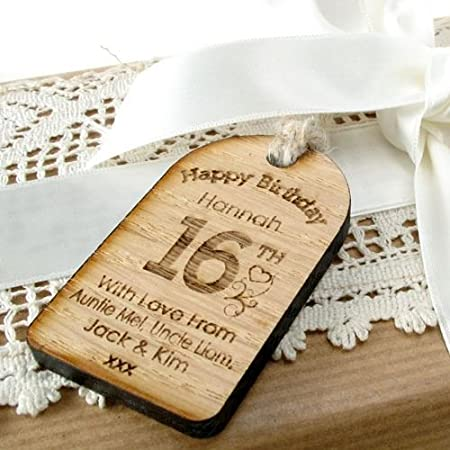 16th Birthday Gift Ideas Personalised Tag
