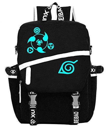Siawasey Anime Naruto Cosplay Messenger Bag Luminous Backpack Shoulder School Bag