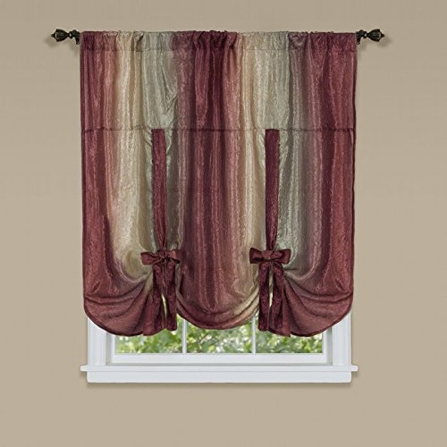 Park Avenue Collection Ombre Tie Up Shade 50x63 - - Avenue Park Shades