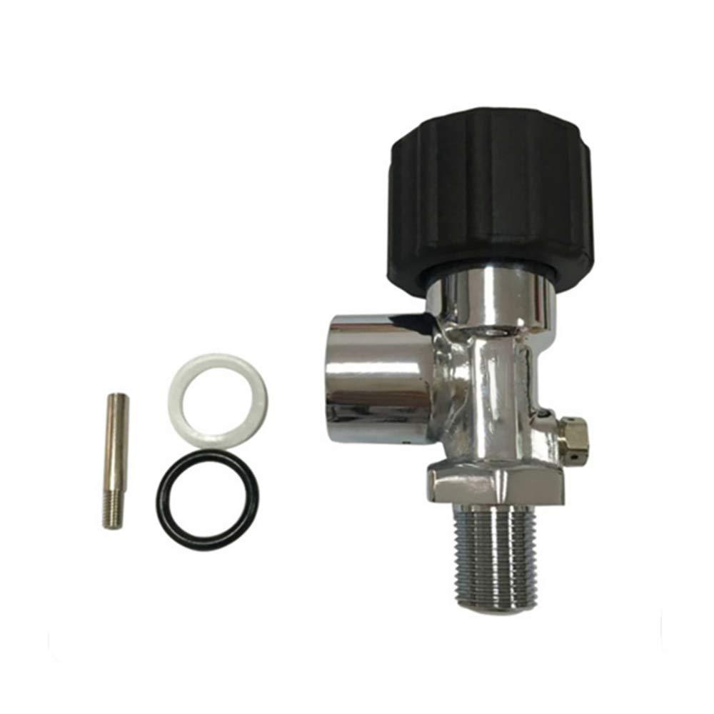 HPDAVV High Pressure Carbon Fiber Cylinder Valve,30 Mpa Bottle Valve,Scuba Breathing Apparatus Valve,M18×1.5,G5/8