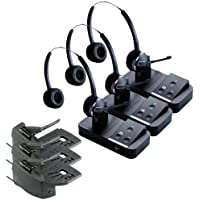 Jabra PRO 9450 Duo Stereo Wireless Headset with GN1000 Remote Handset Lifter (3-Pack)