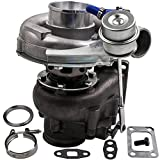 maXpeedingrods T04E T3 T4 T3/T4 V-Band Flange Turbo Turbocharger 0.63A/R, T3 T4 4 bolt Turbocharger Up 420HP, Oil Cooled Internal Wastegate Turbo Charger for all 2.0-3.5L Engine