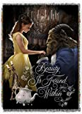 Disney Beauty & The Beast,True Love Woven Tapestry Throw Blanket, 48'' x 60''