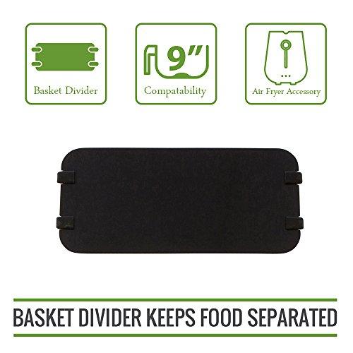 Simple Living XL Air Fryer Cooking Divider, Compatible with 9 Air Fryer Baskets. Air Fryer Basket Divider Keeps Food Separated
