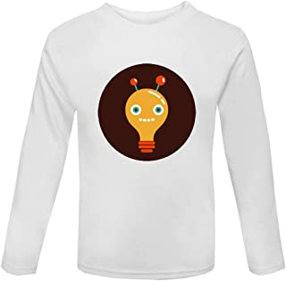 Vintage Robot Character Avatar Face Three Kid's Long Sleeve Top
