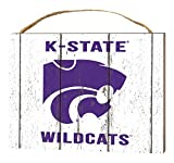 KH Sports Fan 4'' x 5.5'' Kansas State Wildcats Weathered Logo Small College Plaque