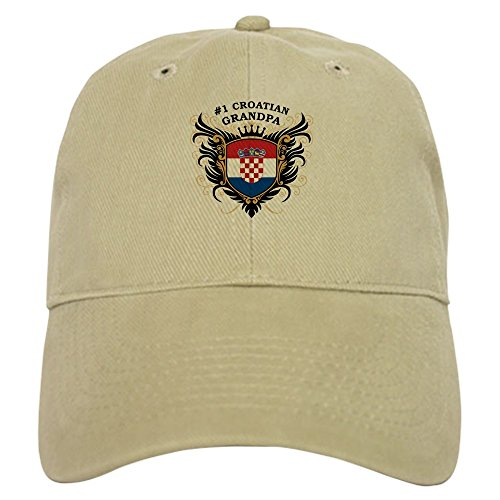 CafePress - Number One Croatian Grandpa - Baseball Cap with Adjustable Closure, Unique Printed Baseball Hat](Number One Grandpa Hat)