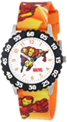 Marvel Kids' W000118 Iron Man Stainless Steel Time Teacher Watch