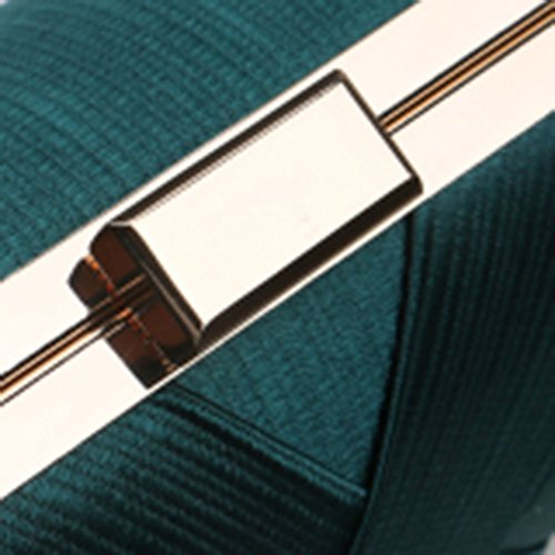 Bag FashionWedding Women Pattern 's 1 Bag HKC Evening Silk Dinner Totes Stripe Ladies 4wq80pT
