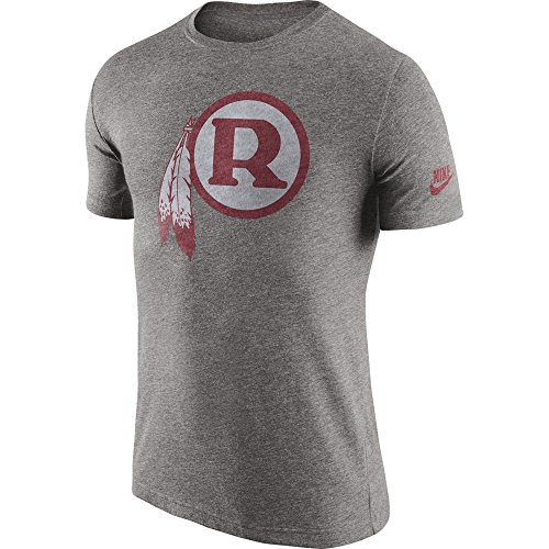 Throwback Tri Blend T-shirt - Washington Redskins Nike Tri-Blend Throwback Historic Logo Heathered Gray T-Shirt - Men's Small