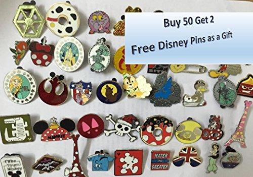 Disneyland Disney Pin (Disney Pins Trading Lot of 50 w/ No Duplicates Lapel Collector Pins Disneyland Pin)